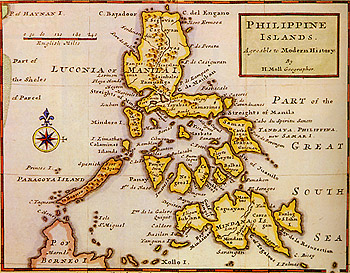 Mindanao-Xolo Map during the Spanish time
