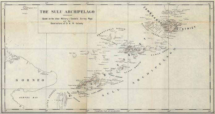 Map of the Sulu Archipelago